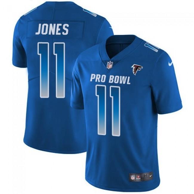 Women's Falcons #11 Julio Jones Royal Stitched NFL Limited NFC 2018 Pro Bowl Jersey