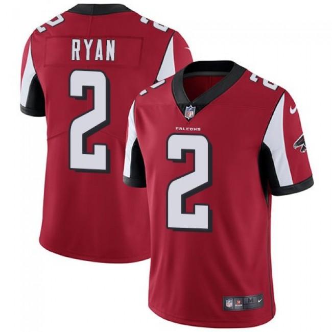 Nike Falcons #2 Matt Ryan Red Team Color Men's Stitched NFL Vapor Untouchable Limited Jersey