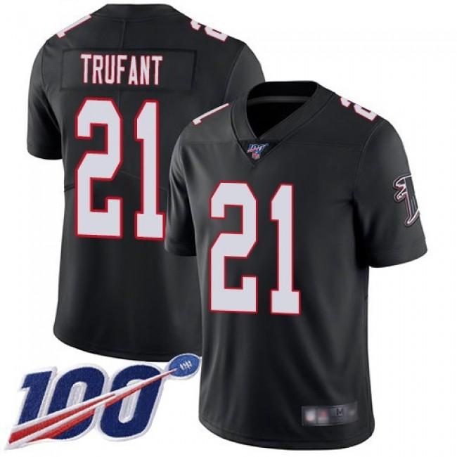 Nike Falcons #21 Desmond Trufant Black Alternate Men's Stitched NFL 100th Season Vapor Limited Jersey
