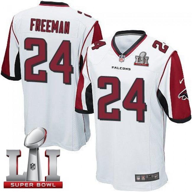 Atlanta Falcons #24 Devonta Freeman White Super Bowl LI 51 Youth Stitched NFL Elite Jersey