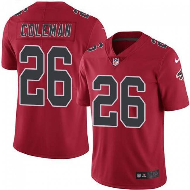 Atlanta Falcons #26 Tevin Coleman Red Youth Stitched NFL Limited Rush Jersey