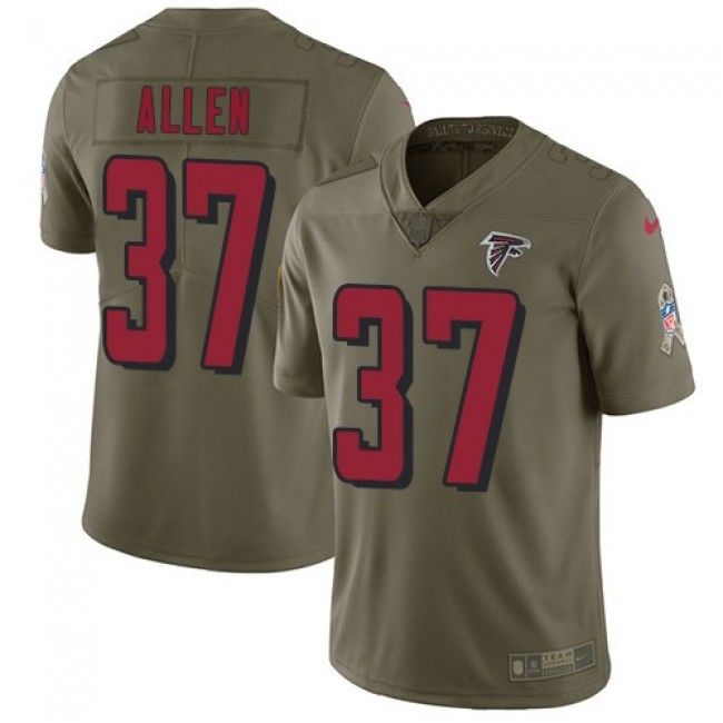 Atlanta Falcons #37 Ricardo Allen Olive Youth Stitched NFL Limited 2017 Salute to Service Jersey