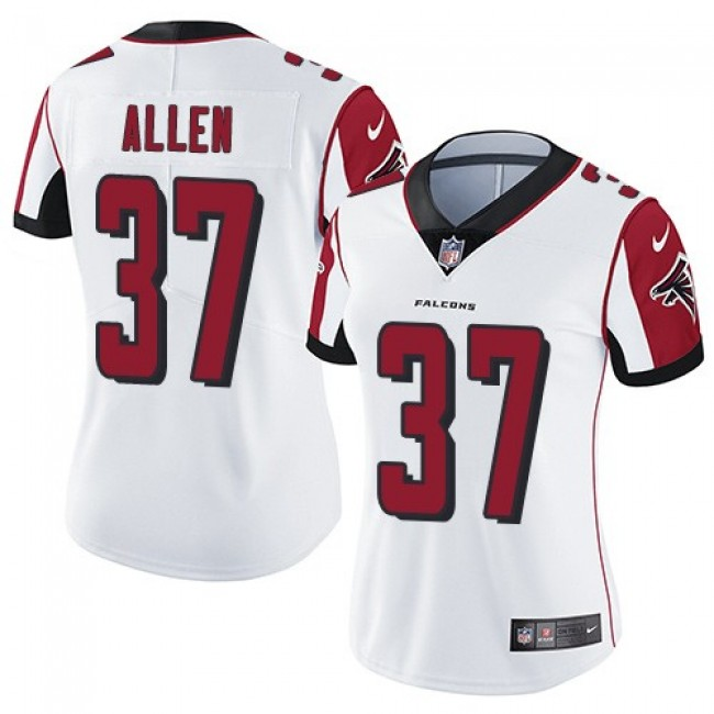 Women's Falcons #37 Ricardo Allen White Stitched NFL Vapor Untouchable Limited Jersey