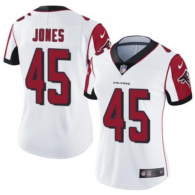 Women's Falcons #45 Deion Jones White Stitched NFL Vapor Untouchable Limited Jersey