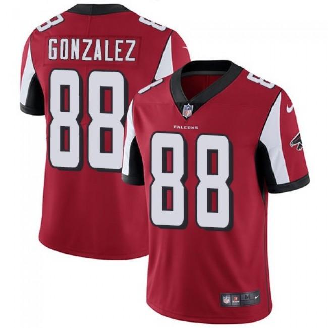 Nike Falcons #88 Tony Gonzalez Red Team Color Men's Stitched NFL Vapor Untouchable Limited Jersey