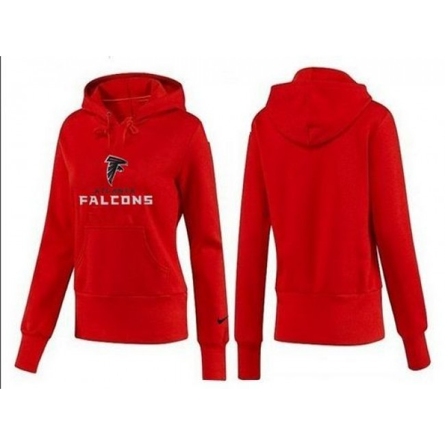 Women's Atlanta Falcons Authentic Logo Pullover Hoodie Red Jersey