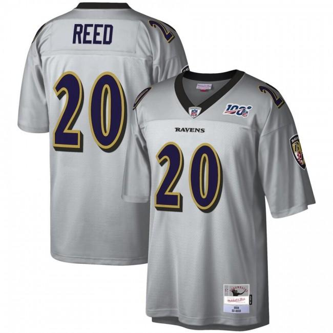 Baltimore Ravens #20 Ed Reed Mitchell & Ness NFL 100 Retired Player Platinum Jersey