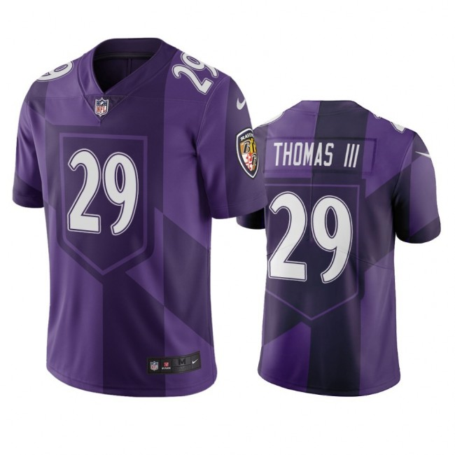 Baltimore Ravens #29 Earl Thomas III Purple Vapor Limited City Edition NFL Jersey