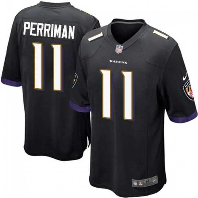 Baltimore Ravens #11 Breshad Perriman Black Alternate Youth Stitched NFL New Elite Jersey