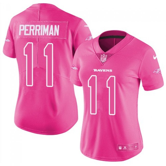 Women's Ravens #11 Breshad Perriman Purple Team Color Stitched NFL New Elite Jersey
