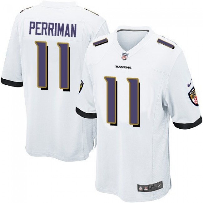 Baltimore Ravens #11 Breshad Perriman White Youth Stitched NFL New Elite Jersey