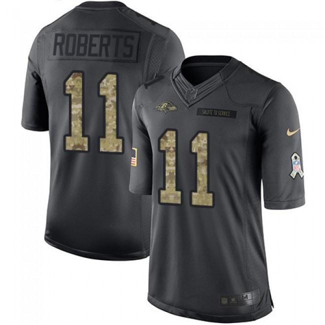 Nike Ravens #11 Seth Roberts Black Men's Stitched NFL Limited 2016 Salute to Service Jersey