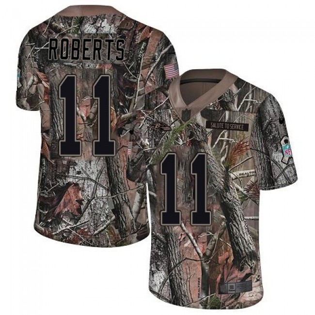 Nike Ravens #11 Seth Roberts Camo Men's Stitched NFL Limited Rush Realtree Jersey