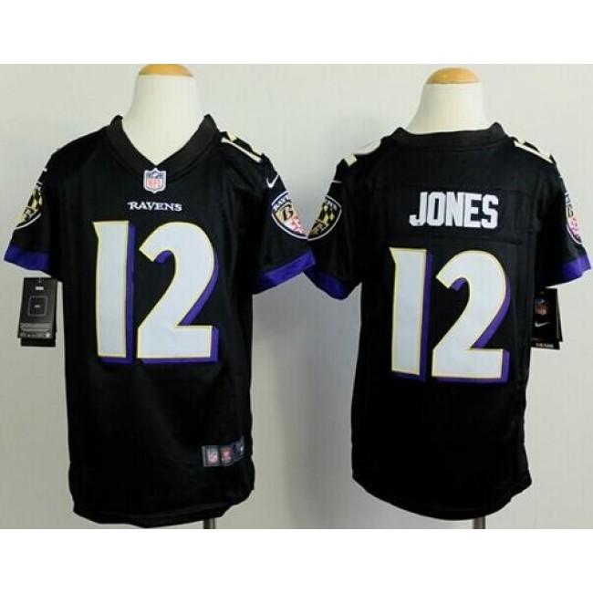 Baltimore Ravens #12 Jacoby Jones Black Alternate Youth Stitched NFL New Elite Jersey