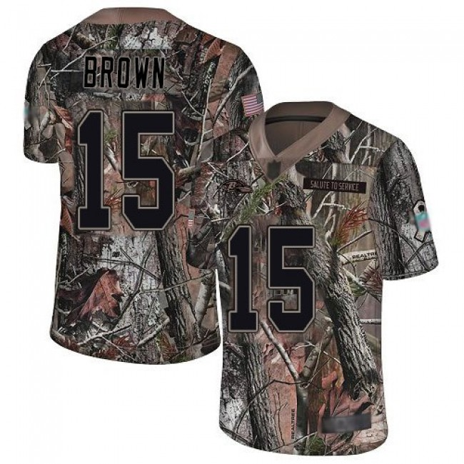 Nike Ravens #15 Marquise Brown Camo Men's Stitched NFL Limited Rush Realtree Jersey