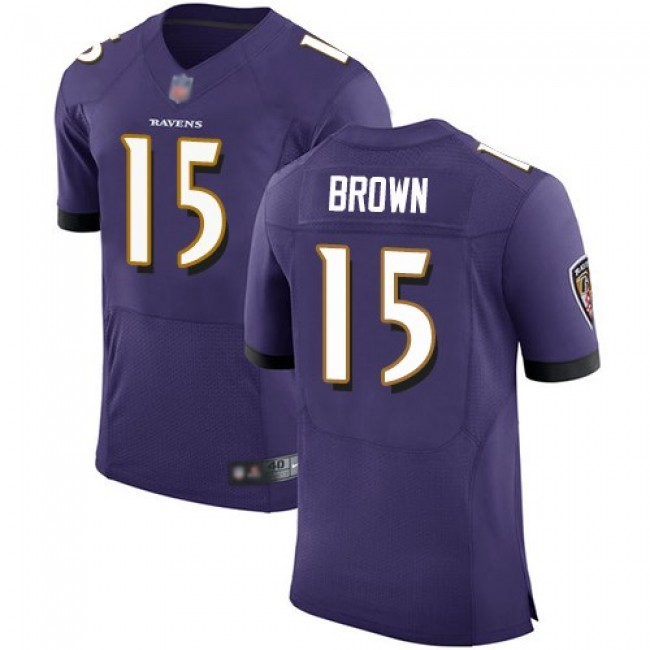 Nike Ravens #15 Marquise Brown Purple Team Color Men's Stitched NFL Vapor Untouchable Elite Jersey