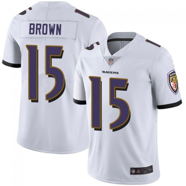 Nike Ravens #15 Marquise Brown White Men's Stitched NFL Vapor Untouchable Limited Jersey