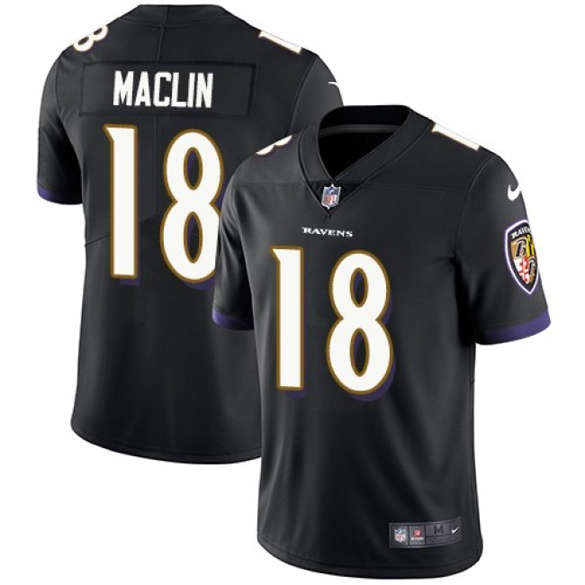 Baltimore Ravens #18 Jeremy Maclin Black Alternate Youth Stitched NFL Vapor Untouchable Limited Jersey