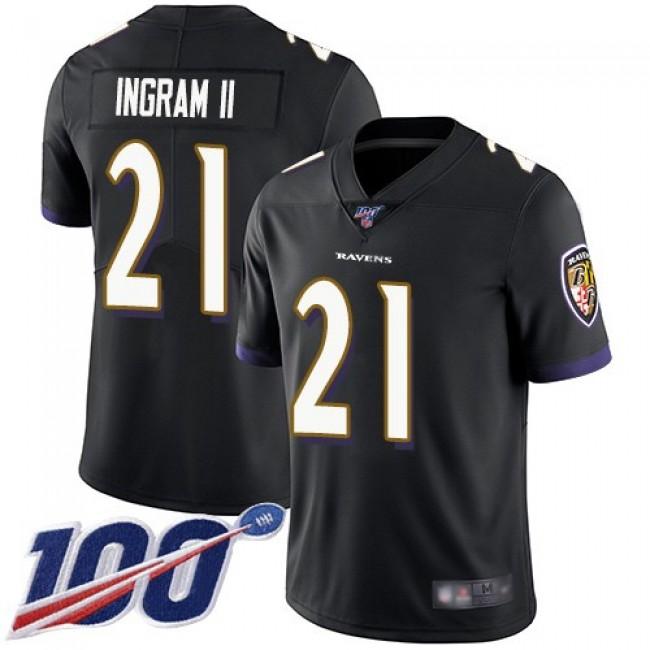 Nike Ravens #21 Mark Ingram II Black Alternate Men's Stitched NFL 100th Season Vapor Limited Jersey