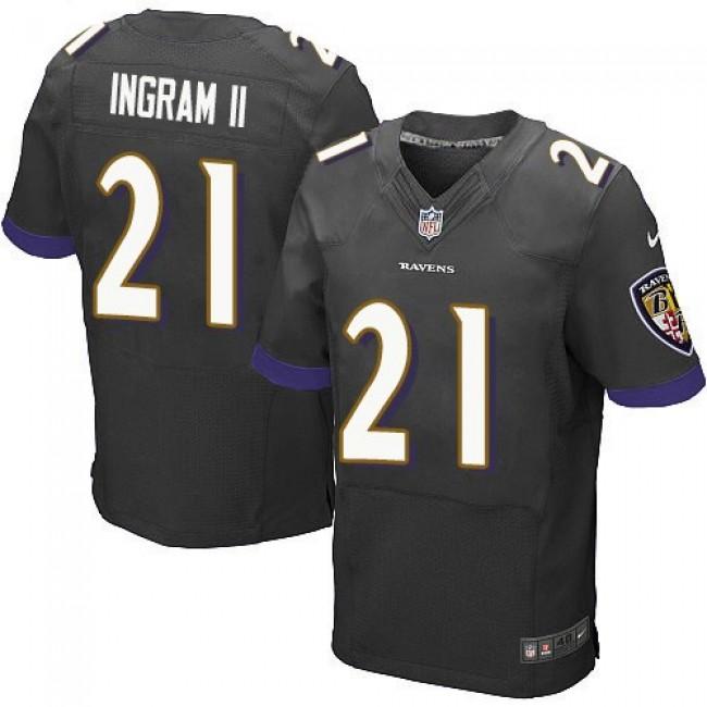 Nike Ravens #21 Mark Ingram II Black Alternate Men's Stitched NFL New Elite Jersey