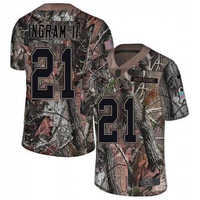Nike Ravens #21 Mark Ingram II Camo Men's Stitched NFL Limited Rush Realtree Jersey