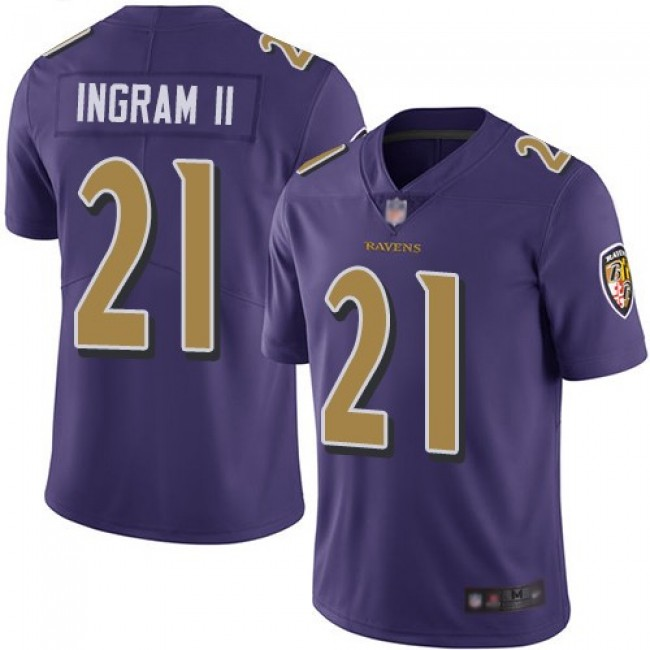 Nike Ravens #21 Mark Ingram II Purple Men's Stitched NFL Limited Rush Jersey
