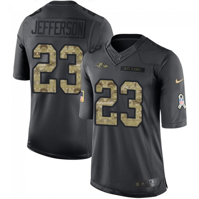 Nike Ravens #23 Tony Jefferson Black Men's Stitched NFL Limited 2016 Salute to Service Jersey