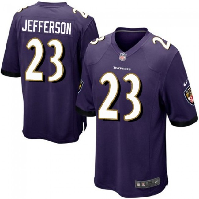 Baltimore Ravens #23 Tony Jefferson Purple Team Color Youth Stitched NFL New Elite Jersey