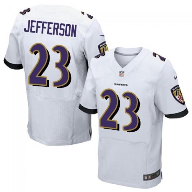 Nike Ravens #23 Tony Jefferson White Men's Stitched NFL New Elite Jersey