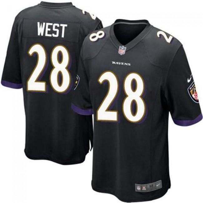 Baltimore Ravens #28 Terrance West Black Alternate Youth Stitched NFL New Elite Jersey