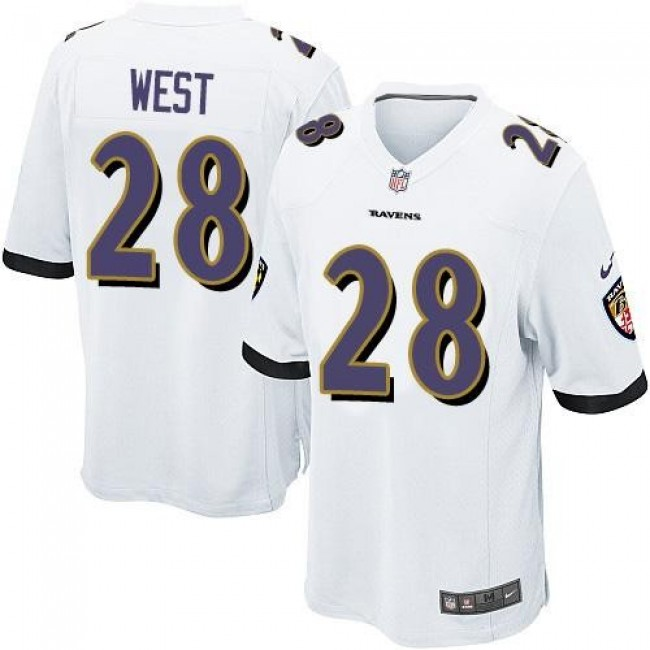 Baltimore Ravens #28 Terrance West White Youth Stitched NFL New Elite Jersey