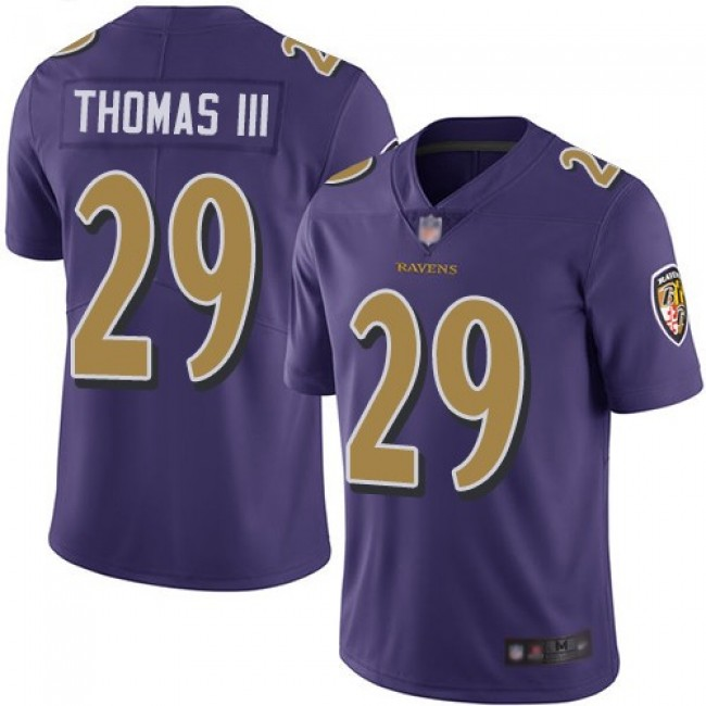 Nike Ravens #29 Earl Thomas III Purple Men's Stitched NFL Limited Rush Jersey
