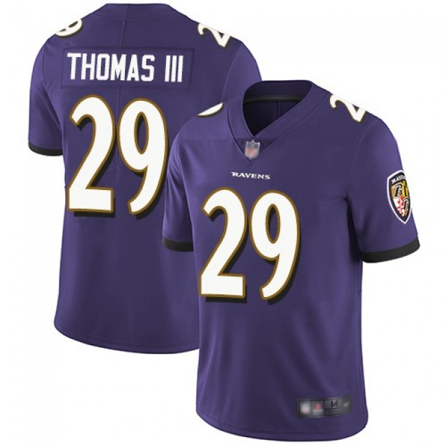 Nike Ravens #29 Earl Thomas III Purple Team Color Men's Stitched NFL Vapor Untouchable Limited Jersey