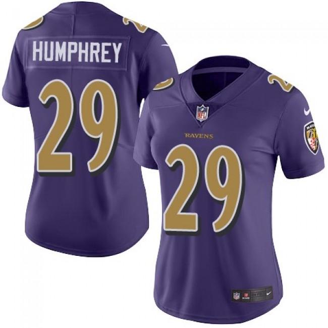 Women's Ravens #29 Marlon Humphrey Purple Stitched NFL Limited Rush Jersey