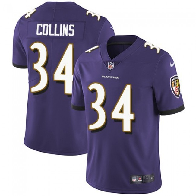 Baltimore Ravens #34 Alex Collins Purple Team Color Youth Stitched NFL Vapor Untouchable Limited Jersey