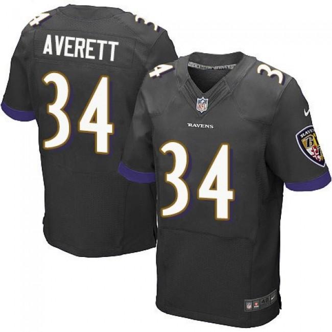 Nike Ravens #34 Anthony Averett Black Alternate Men's Stitched NFL New Elite Jersey