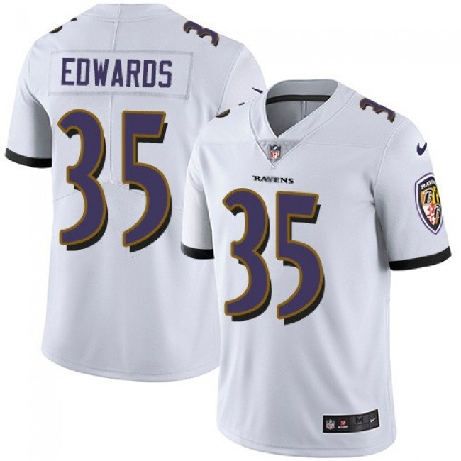 Nike Ravens #35 Gus Edwards White Men's Stitched NFL Vapor Untouchable Limited Jersey