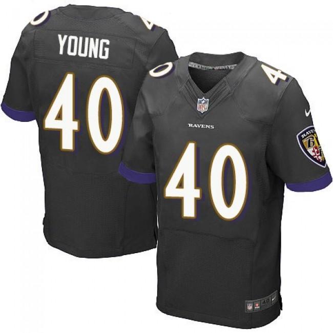 Nike Ravens #40 Kenny Young Black Alternate Men's Stitched NFL New Elite Jersey