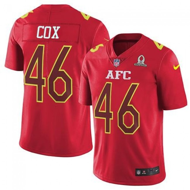 Nike Ravens #46 Morgan Cox Red Men's Stitched NFL Limited AFC 2017 Pro Bowl Jersey