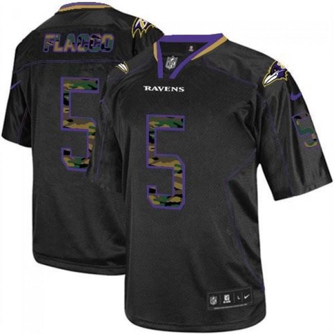 Nike Ravens #5 Joe Flacco Black Men's Stitched NFL Elite Camo Fashion Jersey