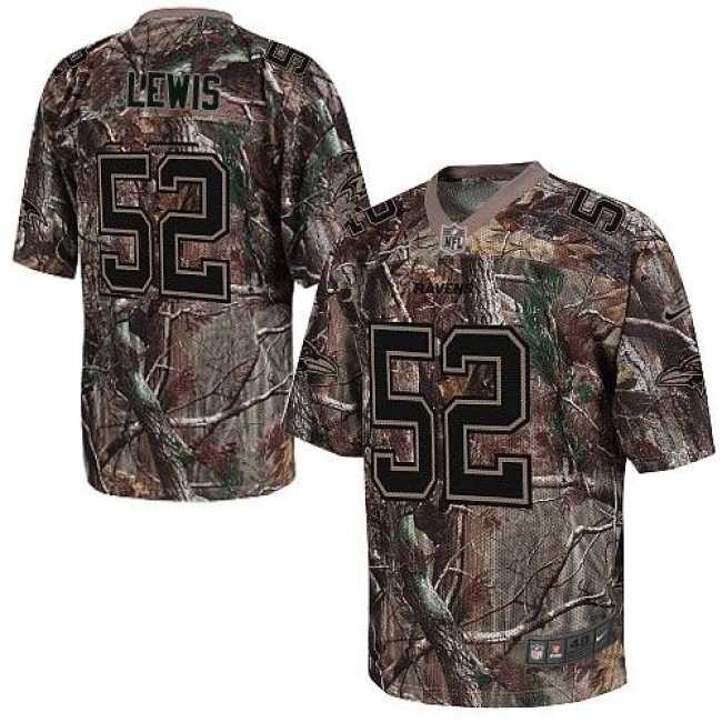 Nike Ravens #52 Ray Lewis Camo Men's Stitched NFL Realtree Elite Jersey