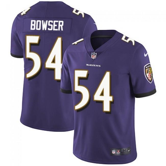 Nike Ravens #54 Tyus Bowser Purple Team Color Men's Stitched NFL Vapor Untouchable Limited Jersey