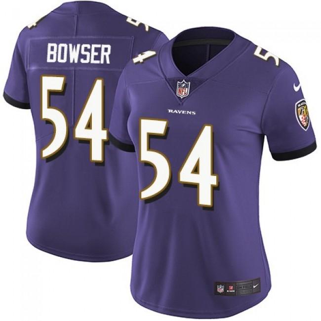 Women's Ravens #54 Tyus Bowser Purple Team Color Stitched NFL Vapor Untouchable Limited Jersey