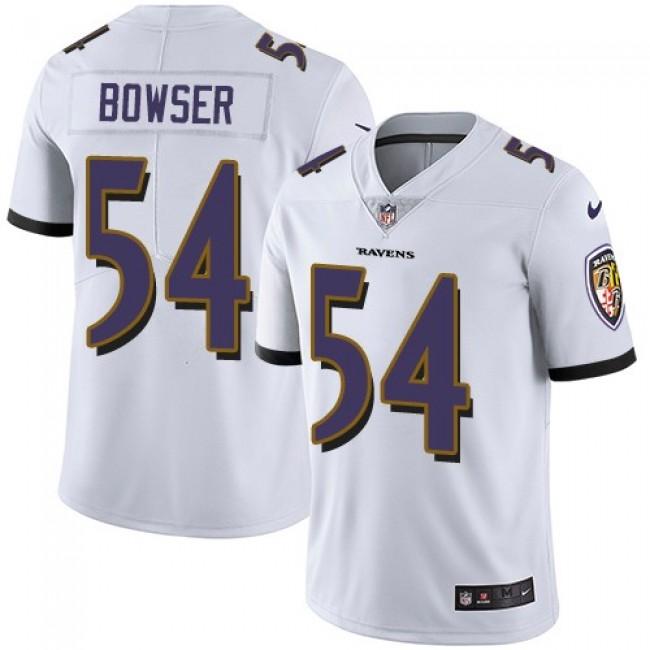 Nike Ravens #54 Tyus Bowser White Men's Stitched NFL Vapor Untouchable Limited Jersey