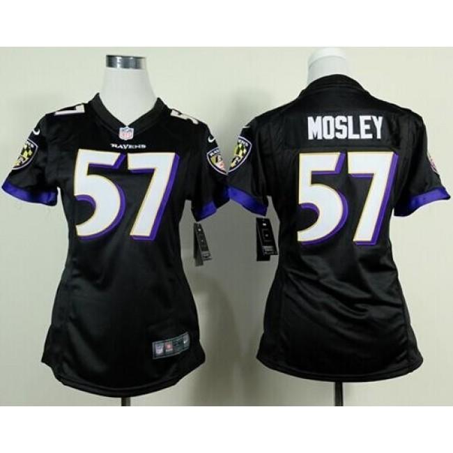Women's Ravens #57 C.J. Mosley Black Alternate Stitched NFL New Elite Jersey