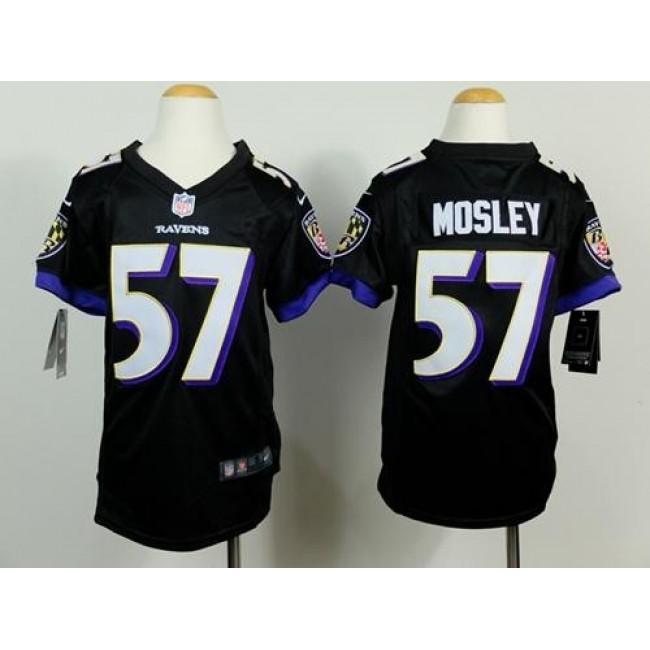 Baltimore Ravens #57 C.J. Mosley Black Alternate Youth Stitched NFL New Elite Jersey