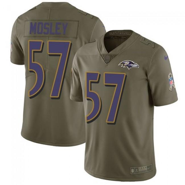 Nike Ravens #57 C.J. Mosley Olive Men's Stitched NFL Limited 2017 Salute To Service Jersey