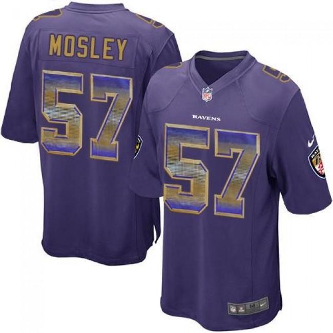Nike Ravens #57 C.J. Mosley Purple Team Color Men's Stitched NFL Limited Strobe Jersey