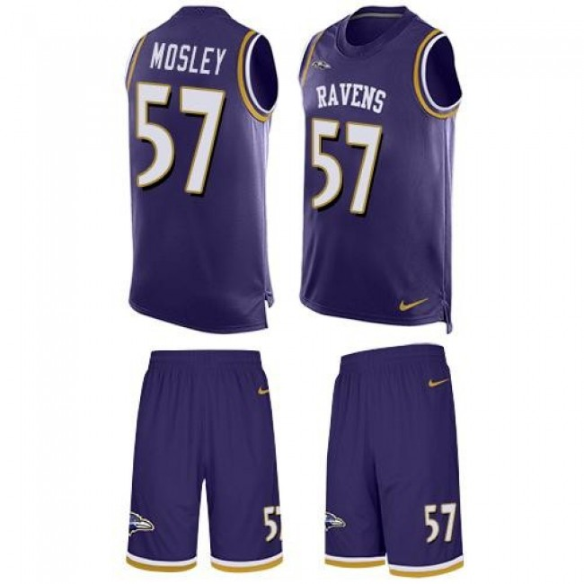 Nike Ravens #57 C.J. Mosley Purple Team Color Men's Stitched NFL Limited Tank Top Suit Jersey