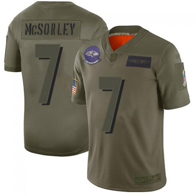 Nike Ravens #7 Trace McSorley Camo Men's Stitched NFL Limited 2019 Salute To Service Jersey